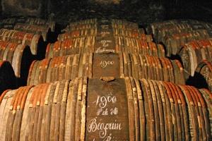 Hennessy's aged cognac barrels. Source: graperadio.com