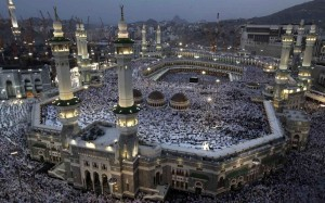 Some of the millions of white-robed pilgrims at Mecca. Source: The Telegraph.