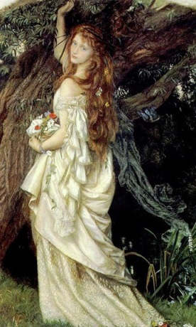 """Ophelia"" by Arthur Hughes. Source: preraphaelitesisterhood.com"