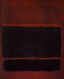 "Mark Rothko, #20 or ""Black,brown on maroon."" Source: artsearch.nga.gov.au"