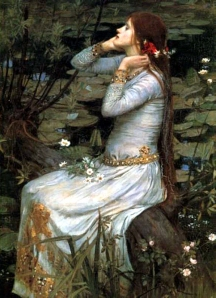 """Ophelia"" by John William Waterhouse, 1910. Source: preraphaelitesisterhood.com"