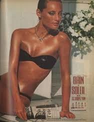Bain de Soleil ad, 1983. Source: Pinterest.