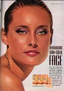 1980s Bain de Soleil ad via Pinterest.