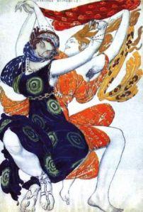 Vintage Ballet Russe poster. Source: Pinterest.