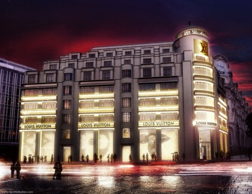 LV's Paris Headquarters in animated art by Studio Cyrille Thomas.  http://www.cyrillethomas.com/