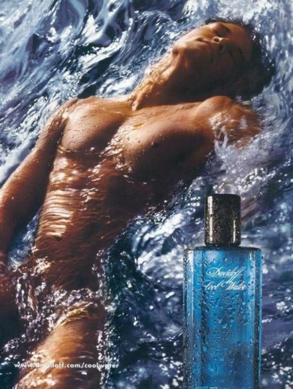 Davidoff Cool Water ad, October 2000. Source: coloribus.com
