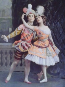 Nijinsky and Pavlova, the two superstars of Les Ballets Russes. Vintage image. Source: jbtaylor.typepad.com