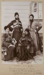 Four members of the Tsar's Imperial Russian Cossack bodyguard. Source: Pinterest.