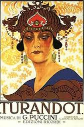 Original poster for Turandot. Source: Wikipedia.