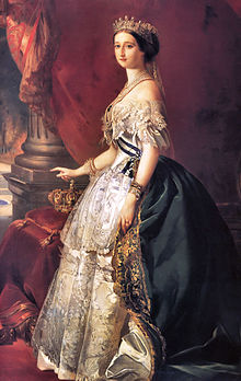 Empress Eugenie, official portrait via Wikipedia.