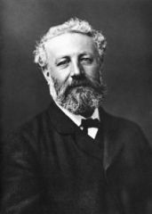 Jules Verne, photo by Nadar circa 1878, via Wikipedia.